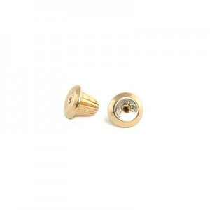 14K Yellow Gold Earring Screw Back (one piece)