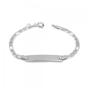 Children Jewelry - 6 1/2 Inches Sterling Silver ID Bracelet For Boys And Girls