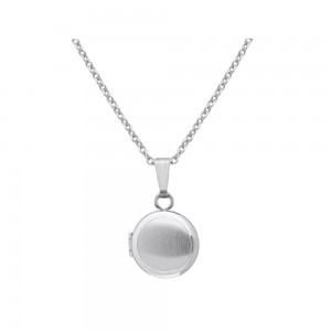 Baby & Toddler Jewelry - 13 In Sterling Silver Round Locket Necklace
