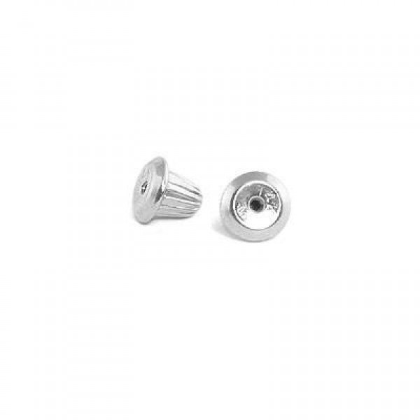 14K White Gold Earring Screw Back (one piece)