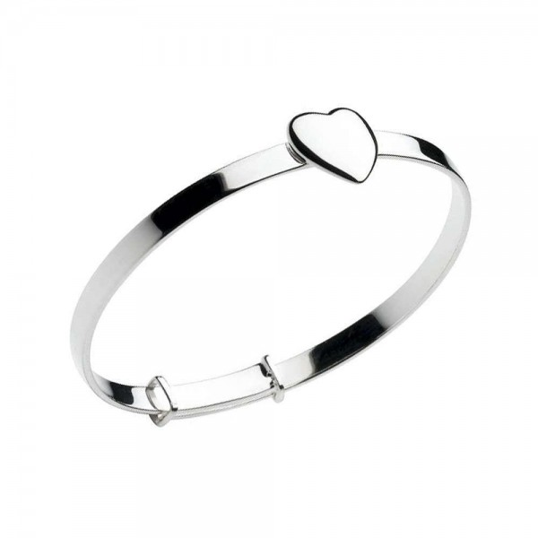 Baby Amp Toddler Sterling Silver Heart Christening Bangle