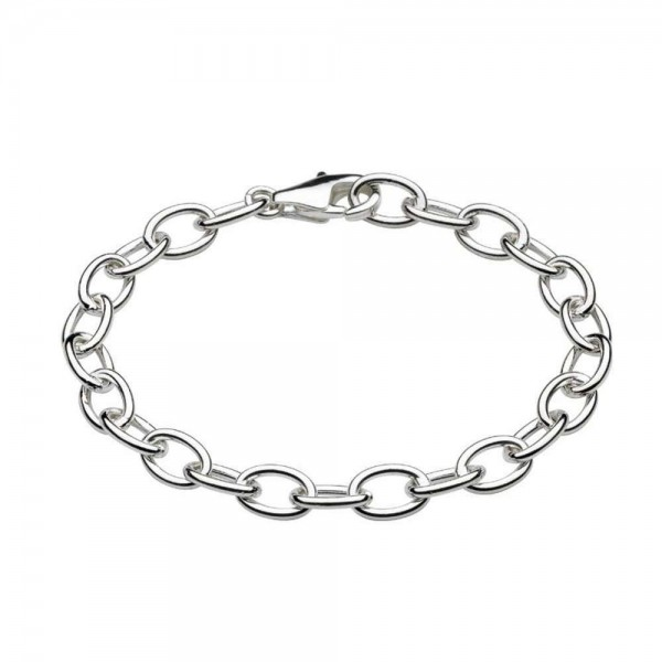 Children And Teens Sterling Silver Rolo Chain Bracelet For Charms (6 1/4 or 7 1/4 in)