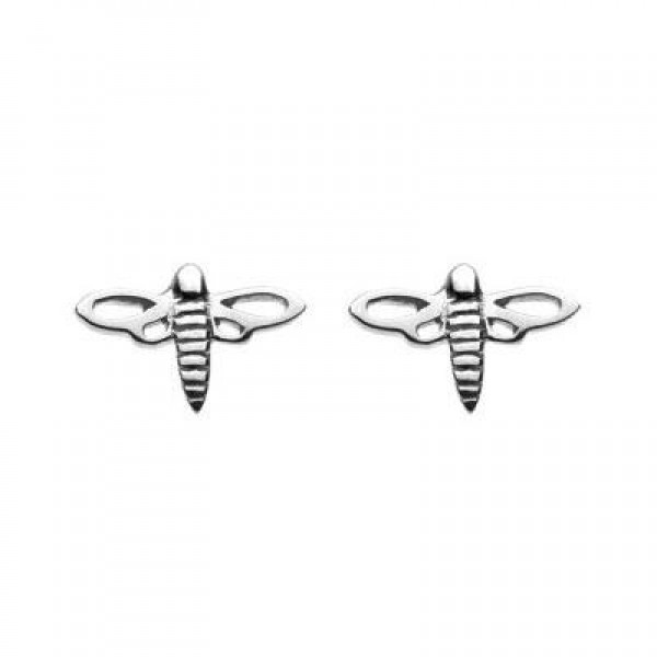 Kids Sterling Silver Dragonfly Stud Earrings