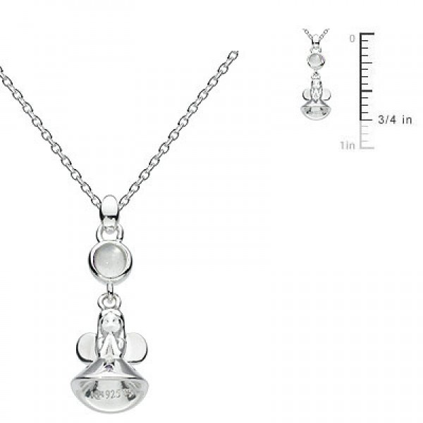 Little Girl Sterling Silver Fairy Godmother June Birthstone Necklace (12-14 in)