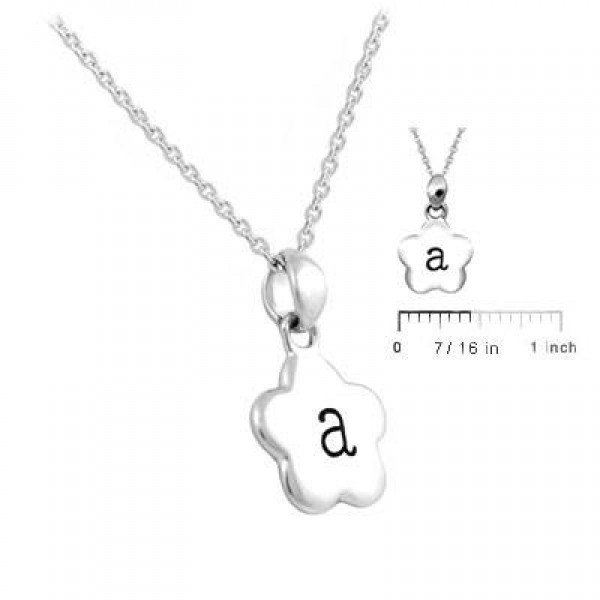 Girl's Sterling Silver Initial