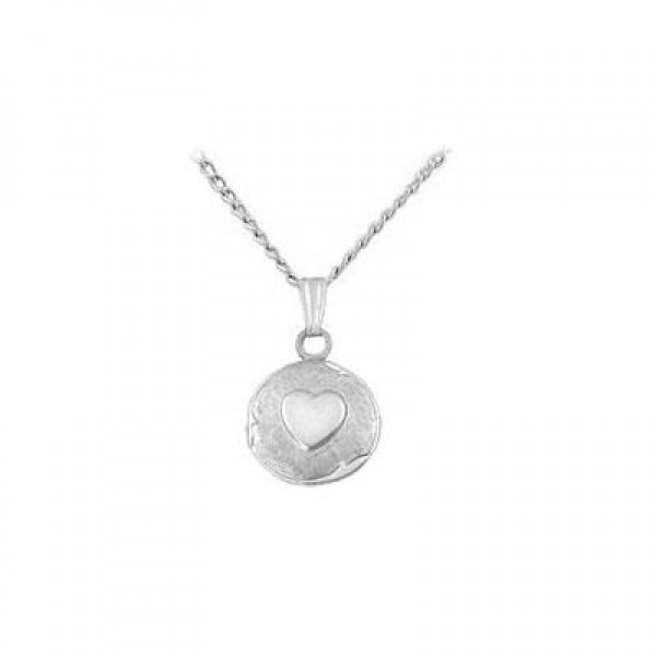 Baby And Toddler Sterling Silver Round Locket with 13 inches Chain
