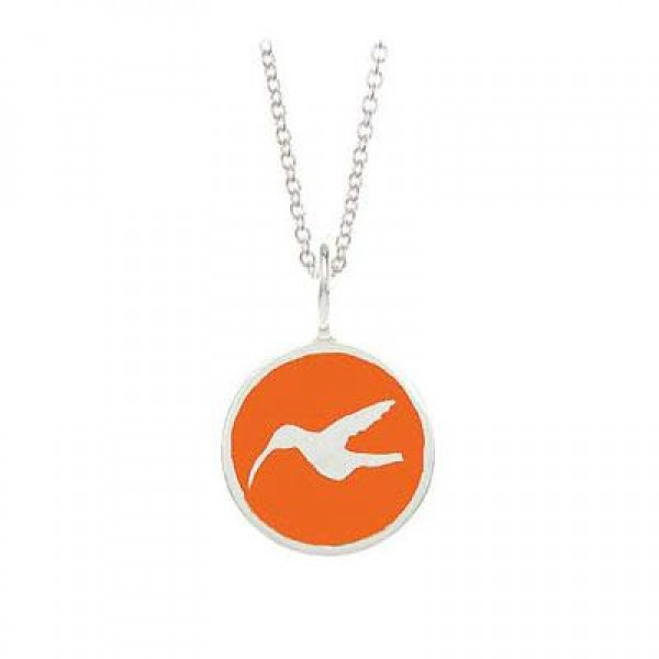 Children Sterling Silver Hummingbird Charm Necklace (14 Inches)