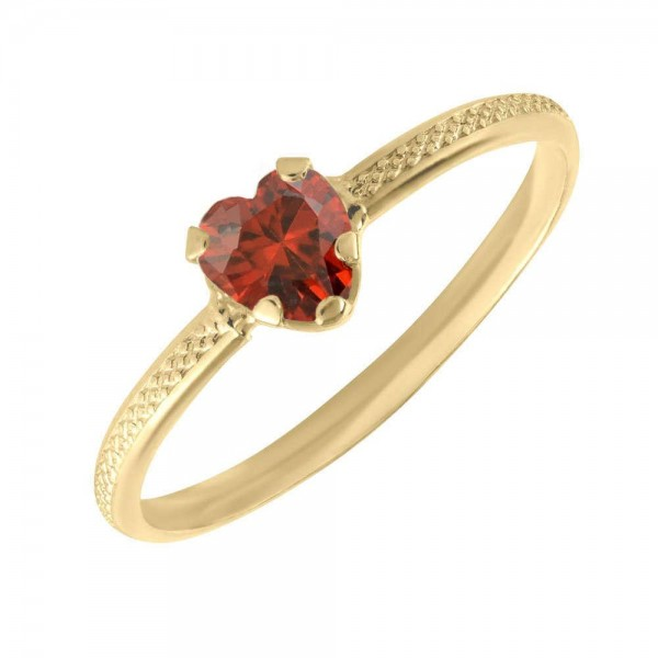 10K Yellow Gold January Birthstone Ring For Toddlers And Children (size 3 1/2)