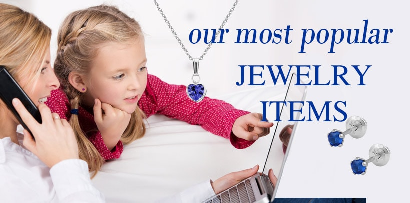 Most popular jewelry for babies, children and teens